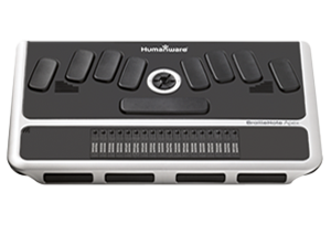 Image of a BrailleNote Apex BT 18 Braille Notetaker