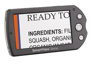 Image of a SmartView Versa handheld electronic magnifier