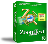 Image of a ZoomText Magnifier software