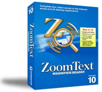 Image of a ZoomText Magnifier/Reader software